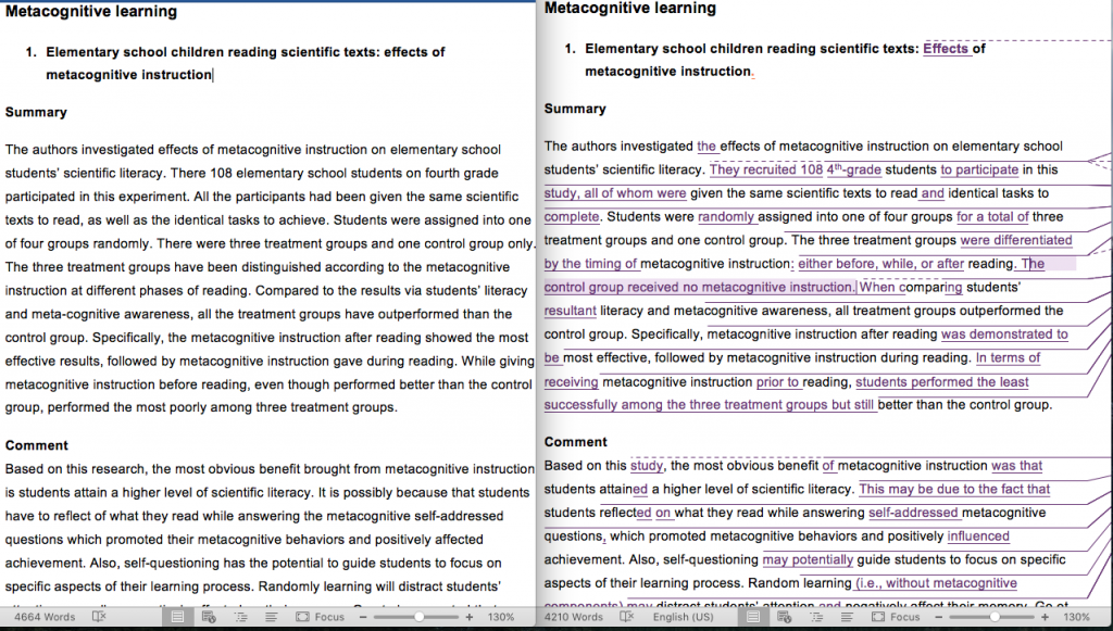 Metacognitive Learning (annotated bibliography)